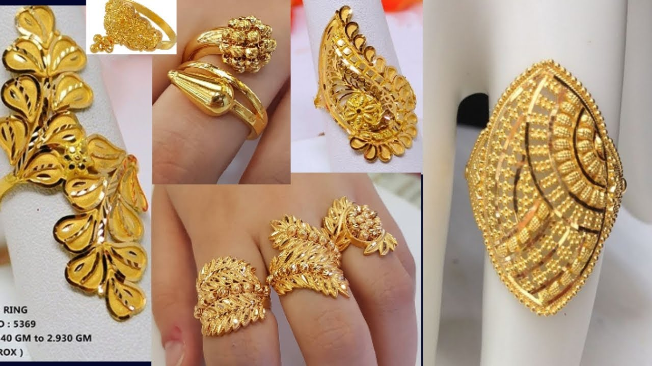 Latest gold rings design with weight and price //engagement ring design for  girls - YouTube