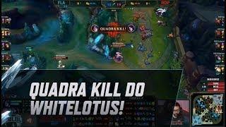 CBLoL 2019: 2ª Etapa - Quadra kill do Whitelotus!
