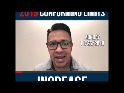 2019 Conforming Loan Limits Increased!