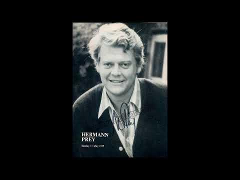 Hermann Prey sings Lieder by Franz Schubert