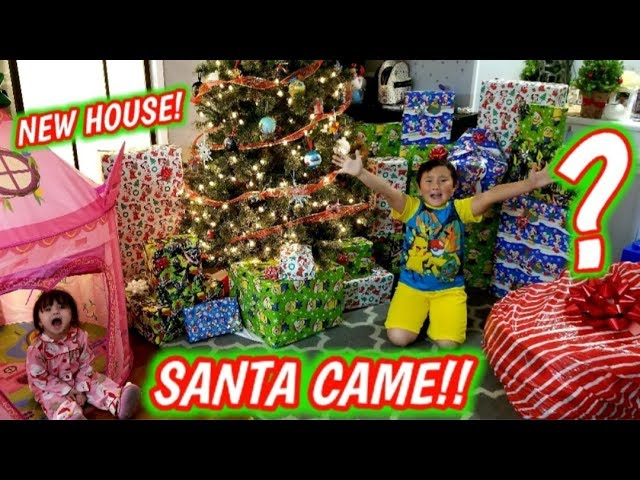 Santa Brought The Best Christmas Presents Ari Got A New House And Huge Mystery Suprise Gift