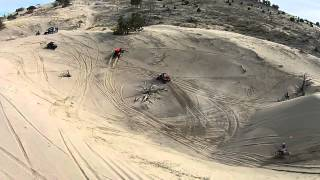 Fun in the sand at Little Sahara sand dunes RZR