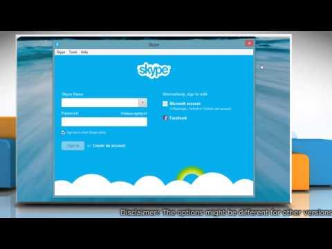 Disable Screen Sharing in Skype® for Windows® Desktop on Windows® 8 PC
