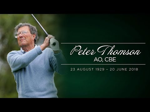 A tribute to Peter Thomson