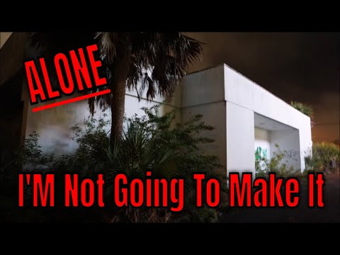 (30 Min ALONE Challenge) ABANDONED HAUNTED DANGEROUS HOSPITAL) 2 AM,, 5 TO 1 AND 1 TO 5, NO ONE HERE