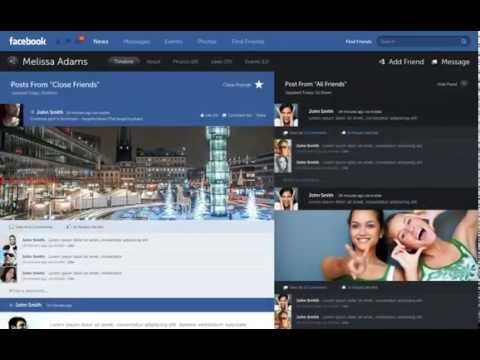 Facebook Prototype - Conceptional Approach (Fred Nerby)
