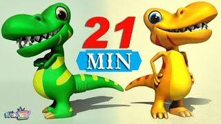 10 Little Dinosaurs | + More Nursery Rhymes & Kids Songs | Cartoons for Kids
