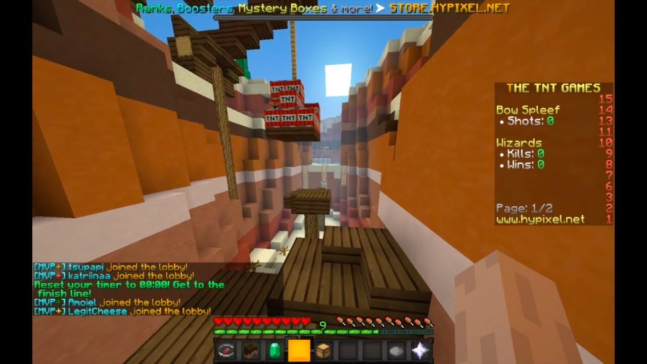 [ World Record ] Minecraft - Hypixel TNT Run Lobby Parkour All Checkpoints  (28 569)