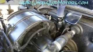 How to replace air-con/heater air blower motor in Audi A6 (C6 4F)