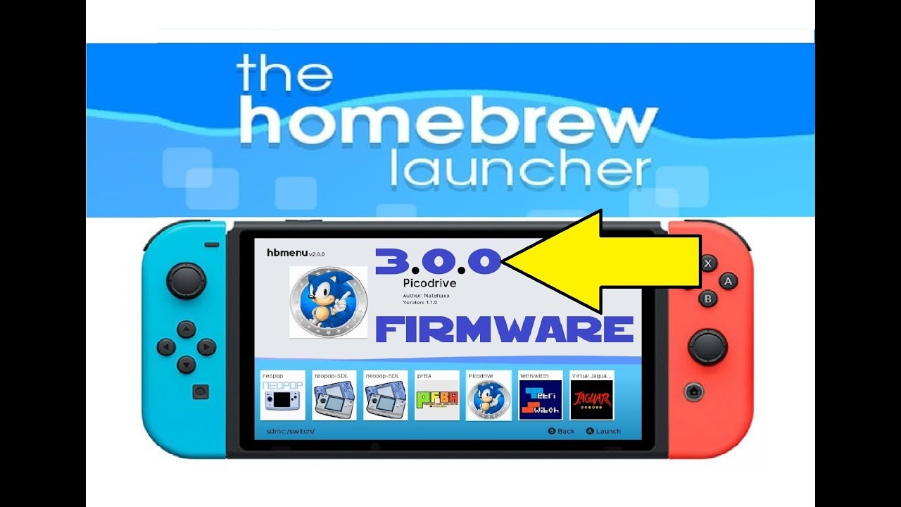 How to install HomeBrew Menu 2 0 on Switch 3 0 0 firmware