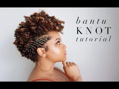 bantu knot tutorial 4a tapered