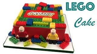 How to Make a LEGO Cake with Custom Logo & Lego Men | Ultimate Cake Art
