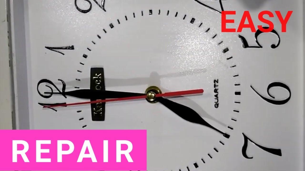 Wall Clock Stops Working How To Fix Repair It Nano Tech Youtube
