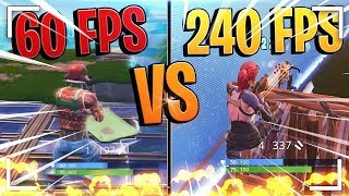 30 FPS vs 60 FPS vs 144 FPS - FORTNITE BATTLE ROYALE (How to get better at scrims)