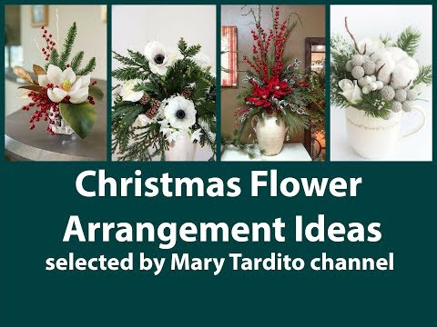 Pictures of christmas flower arrangements