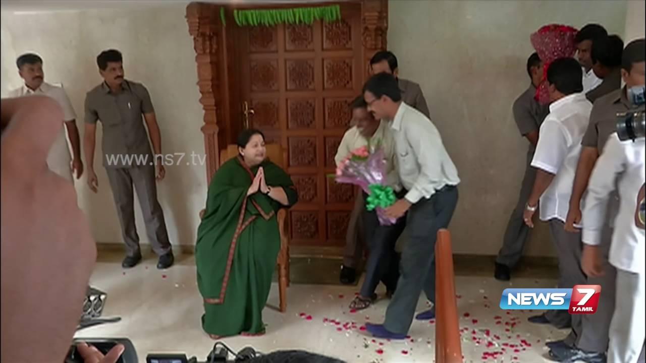 Jayalalithaa showered with wishes at poes garden news7 Jayalalitha house poes garden photos