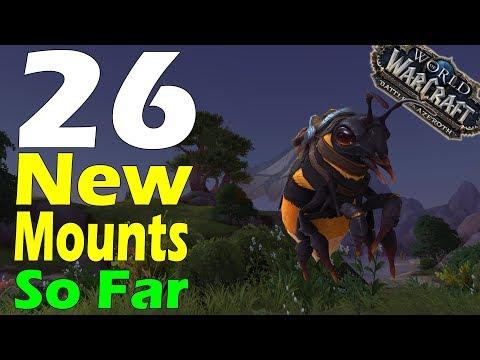 26 NEW MOUNTS in Battle for Azeroth Alpha SO FAR  !!