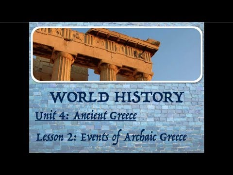 04.02 Archaic Greece Events