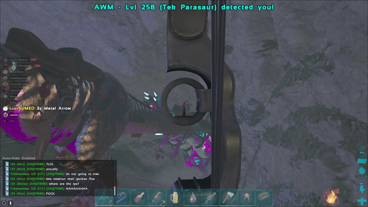 Ark Official PvP   Griefing Aimbotting Tribe On 294   1/2