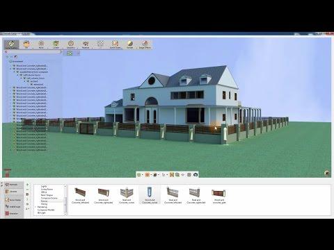 SimLab Composer / Exterior design (adding fences)