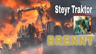 Feuerwehr löscht brennenden Traktor | Traktoren im Einsatz |