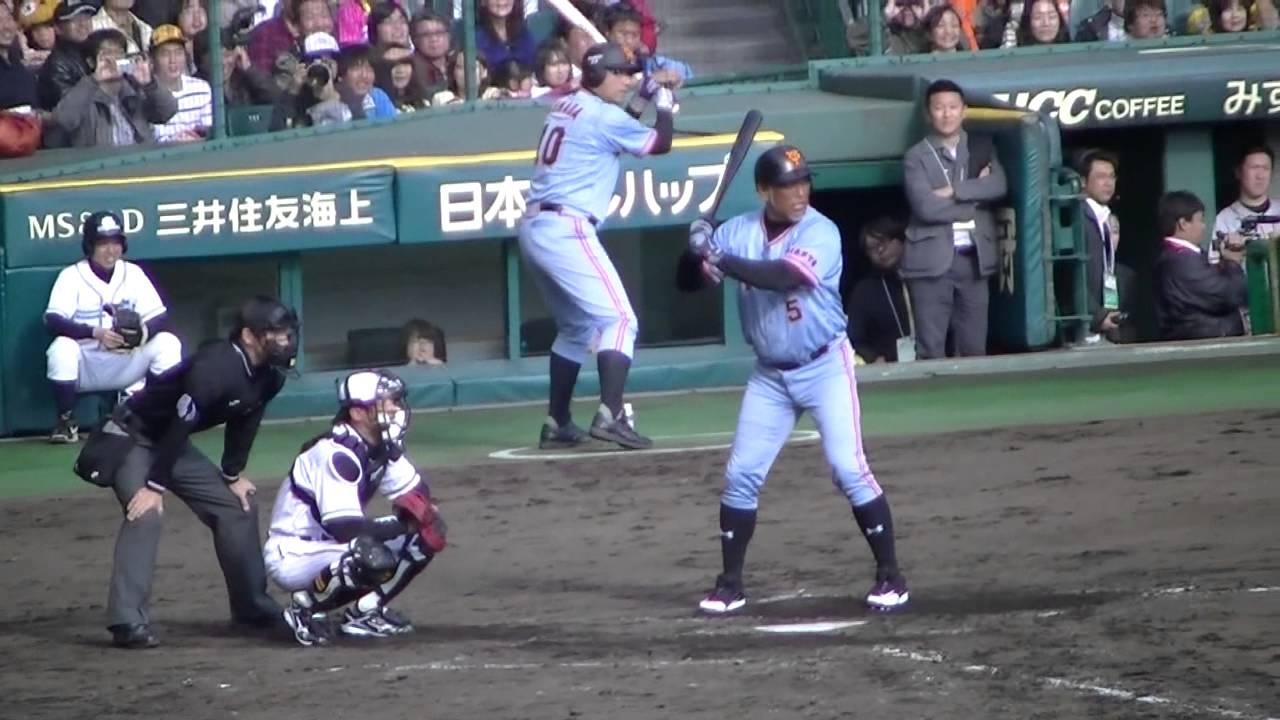 阪神VS巨人OB戦2012 「藪 vs 清原 因縁の対決から亂闘?」 - YouTube