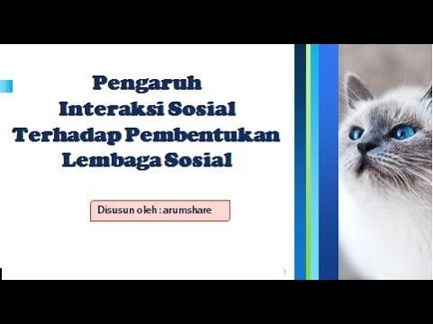 PENGARUH INTERAKSI SOSIAL TERHADAP PEMBENTUKAN LEMBAGA ...