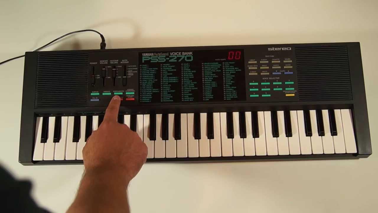 yamaha portasound voice bank pss 270 keyboard youtube