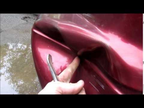 how to fix a huge dent in your car doovi. Black Bedroom Furniture Sets. Home Design Ideas