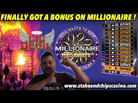 GOT THAT BONUS ! 😂 Lil Devil & Who Wants To Be A Millionaire Online SLOT Casino Play
