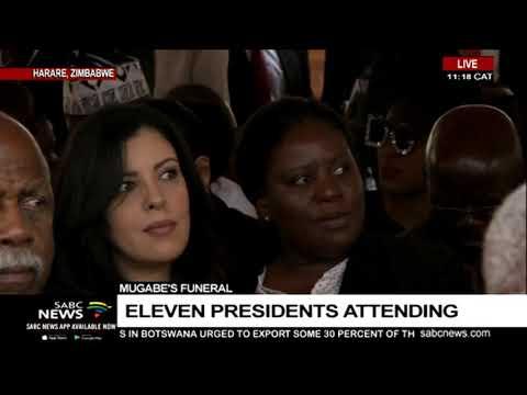 Ramaphosa arrives at Mugabe funeral