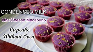 Condensed Milk Ube Cheese Macapuno Cupcakes l Ube Cheese Macapuno Cupcake Recipes