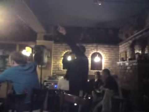 shaun rockin the karaoke in the mill