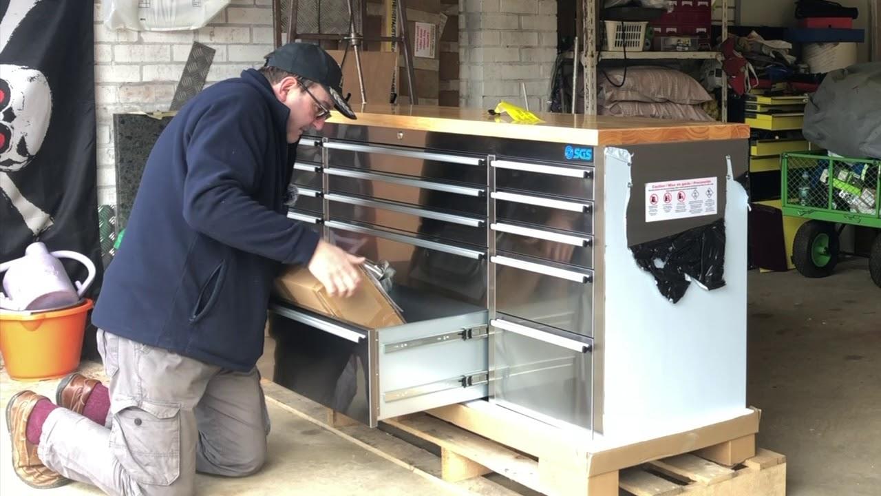 """SGS Professional heavy duty 42/"""" boîte à outils tour de poitrine roller cabinet"""
