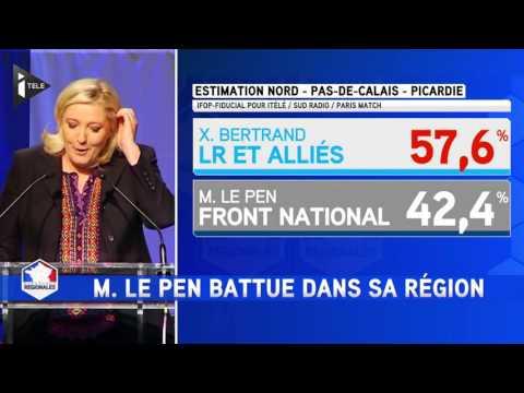 """Marine Le Pen : """"Nous serons la première force d'opposition"""""""