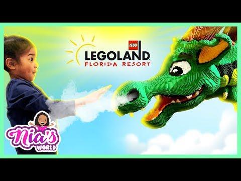 LEGOLAND HOTEL TOUR FLORIDA 2018! Amusement Park and Fun Family Lego Toys for Kids | Nia's World