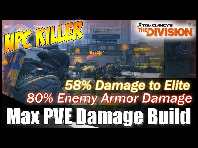 The Division 1.8 || THE BEST PVE KILLER BUILD - MAX PVE DAMAGE BUILD || gameplay