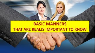 Basic Manners that aŗe really important | Etiquette | Social manners and etiquette | Ideas Infinite
