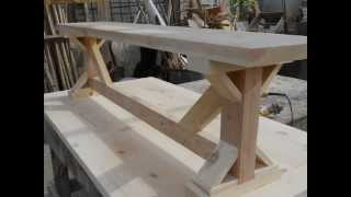 Rustic Benches**trestle Tables ** Trestle Benches
