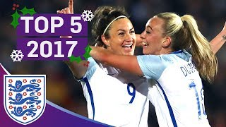 England Women's Top 5 Goals of 2017! | Super Strikes from Taylor, Houghton and Nobbs