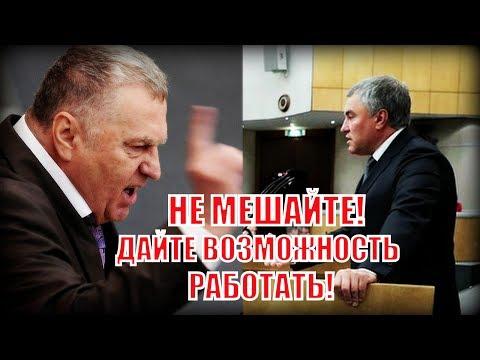 Жириновский разошелся во время выступления так, что Володин призвал его к корректности!
