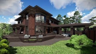 Проект дома в стиле Прерий ( Райта )
