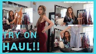 TRY ON HAUL: SUMMER FLORAL DRESSES and ROMPERS