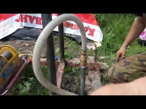Как запустить насос на абиссинской скважине