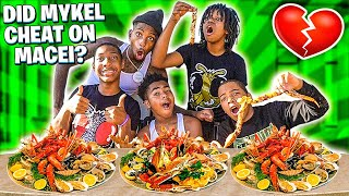 DID MYKEL CHEAT ON MACEI?? Q&A SEAFOOD MUKBANG!