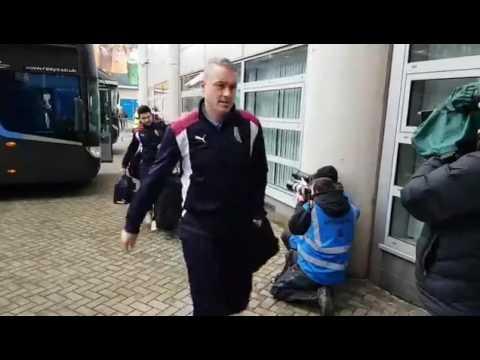 Burnley arrive at the KCOM Stadium