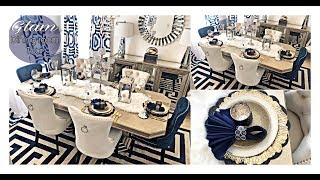 GLAM DINING ROOM MAKEOVER TOUR 2019! Designer Inspired