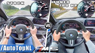 BMW M5 F90 | STOCK vs TUNED 0-250km/h & AUTOBAHN POV by AutoTopNL