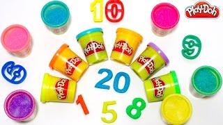Учим цифры от 1 до 20 на английском языке с пластилином Play-Doh.