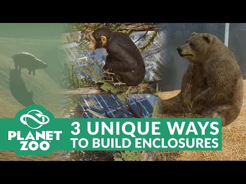 PLANET ZOO | 3 UNIQUE WAYS TO BUILD ENCLOSURES (Habitat Building Guides & Tips)